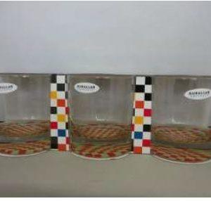 ADA WHISKY GLASS 3PC ORANGE DOTS