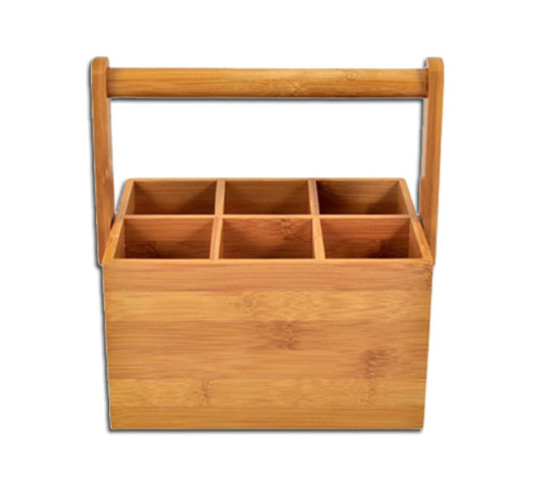 BAMBOO CADDY WITH HANDLE