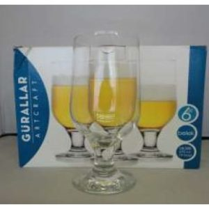 BELEK BEER GLASS FOOTED 6 PACK