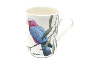 BIRDS OF AUSTRALIA ERIC SHEPHERD Mug 300ML Pink & Grey Galahs