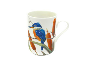 BIRDS OF AUSTRALIA ERIC SHEPHERD   Mug 300ML Sacred Kingfishers