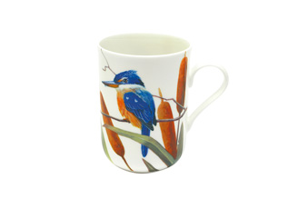 BIRDS OF AUSTRALIA ERIC SHEPHERD   Mug 300ML Sacred Kingfishers