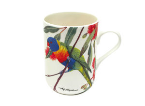 BIRDS OF AUSTRALIA ERIC SHEPHERD   Mug 300ML Rainbow Lorikeets