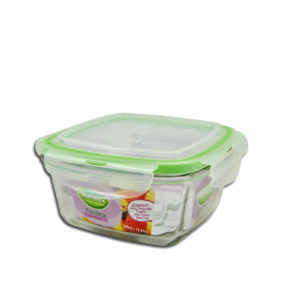 BOWL SQUARE WITH PLASTIC LID FACILITA - 500ML