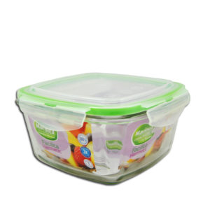 BOWL SQUARE WITH PLASTIC LID FACILITA - 1.0LT