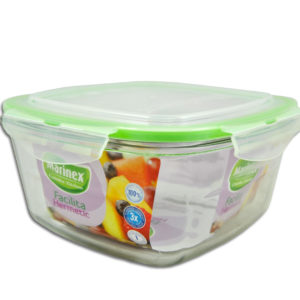 BOWL SQUARE WITH PLASTIC LID FACILITA - 2.0LT