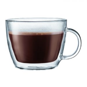 Bistro Double Wall Cafe Latte Cup, 0.45L 2pc set