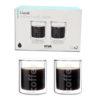 COFFEE GLASS DOUBLE WALL 2PC