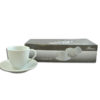 CUP & SAUCER WHITE 4PC