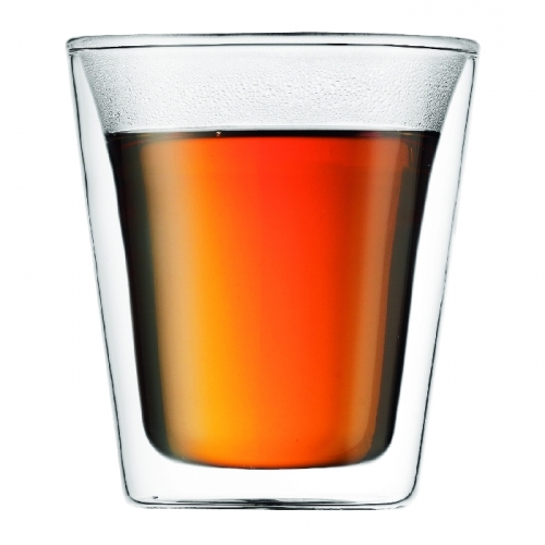 Canteen Double Wall Glass, 0.2L 2pc set