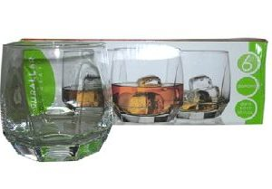 DIAMOND WHISKY TUMBLER 6PACK