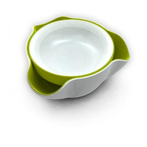 Double Dish (White / Green)