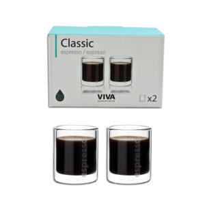 ESPRESSO GLASS DOUBLE WALL 2PC