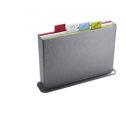 Index Advance (Large) Chopping Board Set - Silver