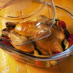 Pyrex Classic Easy Grip Glass Chicken roaster High resistance 5,1 L