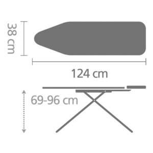 Ironing Board 124x45(C) Steam Iron Rest - Moving Circles