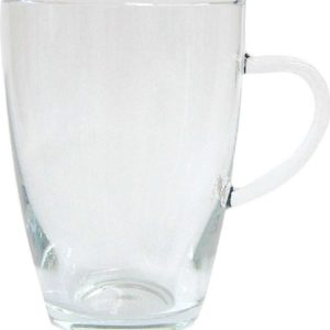 Simax Glassware Lyra Mugs, 12-Ounce, Set of 4