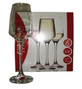 LAL CHAMPAGNE FLUTE 6 PACK