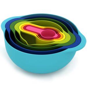 Nest 8 Food Preparation Bowl Set, Multi-Colour