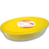 OVAL DISH WITH LID 1.6Lt
