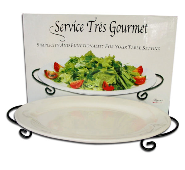 OVAL PLATTER 43cm WITH STAND
