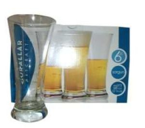 SORGUN PILSNER BEER GLASS 6 PACK