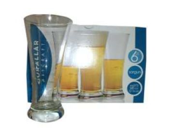 SORGUN PILSNER BEER GLASS 6 PACK