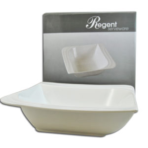 SQUARE SERVING BOWL WHITE