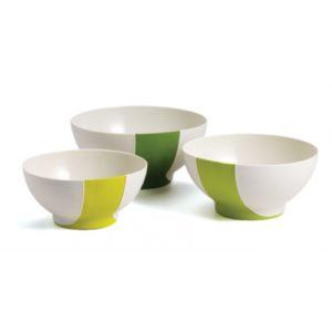 SleekStor® Pinch + Pour Mixing Bowls - Green Tonal