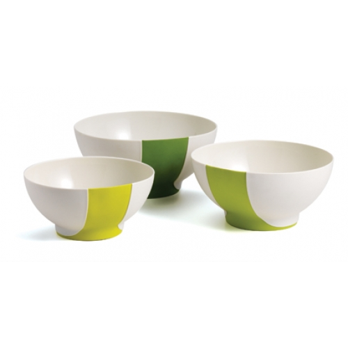 SleekStor® Pinch + Pour Mixing Bowls - Green Tonal