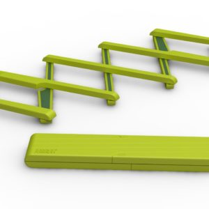 Stretch, Expandable Silicone Trivet Green