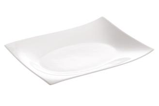 WHITE BASICS MOTION   Rectangular Plate 25x19cm