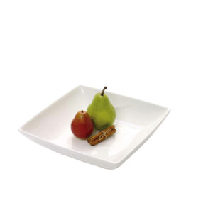 WHITE SQUARE BOWL 275MM