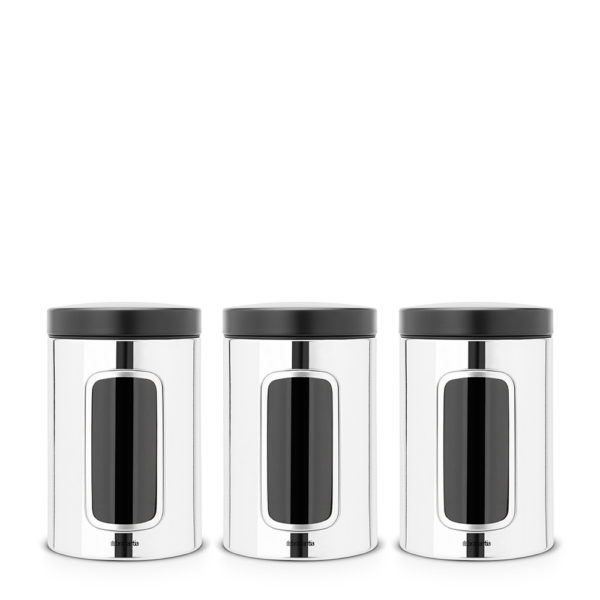 Window Canister, Set of 3, 1.4L – Brilliant