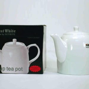White Tea Pot with Lid 14cm - Just White