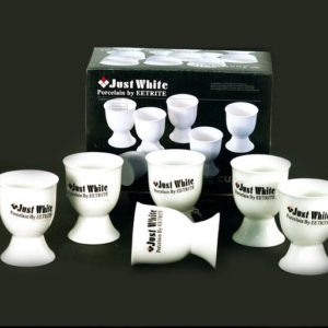 White Egg Cups Set 6