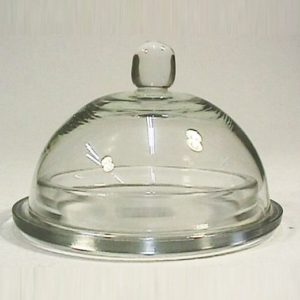 Glass Butter Dish 9cm