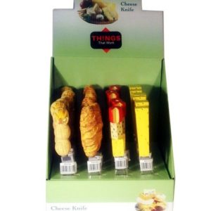 Cheese Knives (4 different styles) in Display Box - 8 cm Box 24