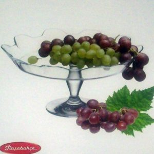 Footed Glass Cake Stand Rim-Up 15cm (Height) * 31.5cm (Diameter)