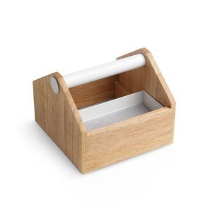 Toto Small Storage Box - White/Natural