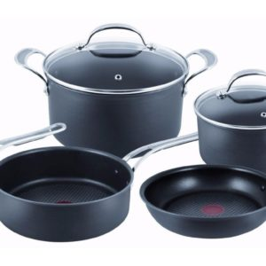 Jamie Oliver By Tefal Professional Series, Hard Anodised, 5 Piece Set