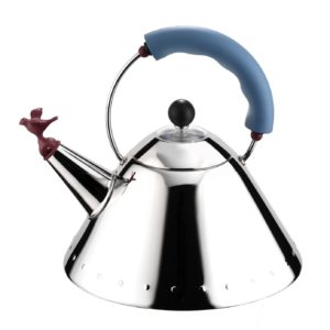 Kettle with Bird Whistle, Blue Handle
