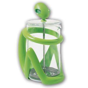 Press filter coffee maker / infuser Green