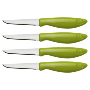 Joie Set of 4 Stainless Steel Flexible Paring/Garnishing Knives - 6 Inch