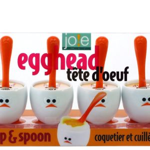 Joie 8 Piece Egghead Egg Cup and Spoon