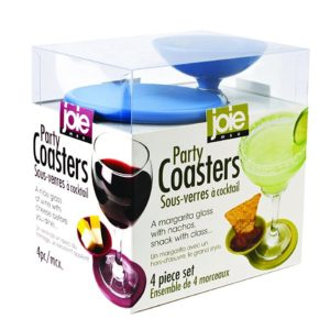 Joie 4 Piece Party Drinks And Snacks Coasters