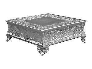 EMBOSSED SQUARE CAKE STAND LARGE