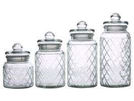 Casa Domani - Trellis Storage Jars Set of 4