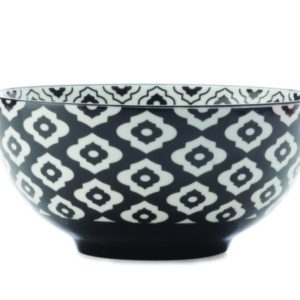 Christopher Vine Alcazar Bowl 15.5cm - Black Bold