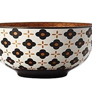 Christopher Vine Marigold Bowl - Black Flower 18 cm